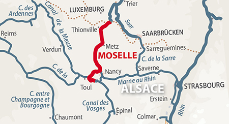 Moselle Region Map France