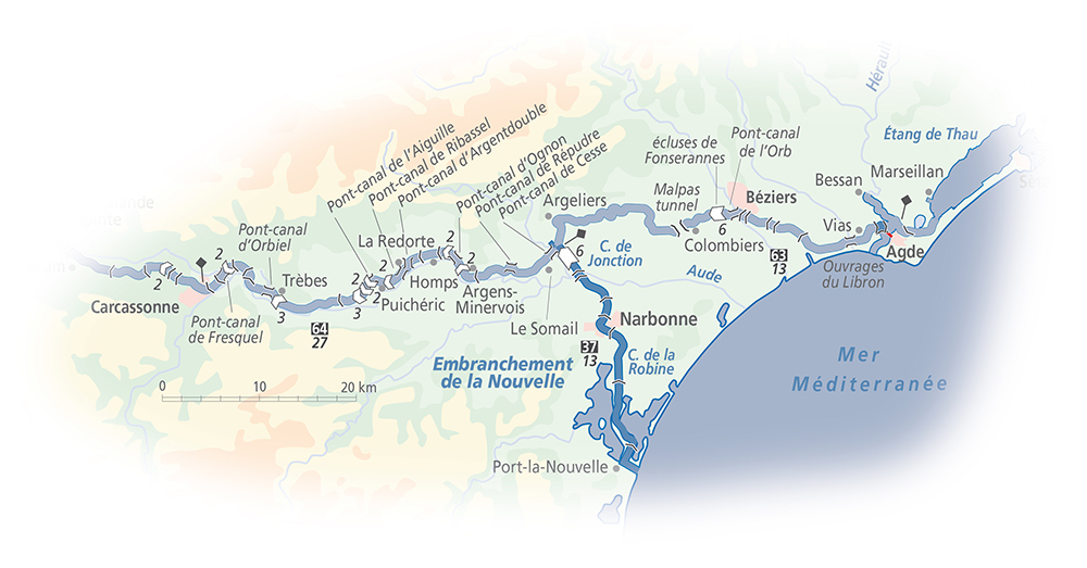 La Nouvelle waterway strip