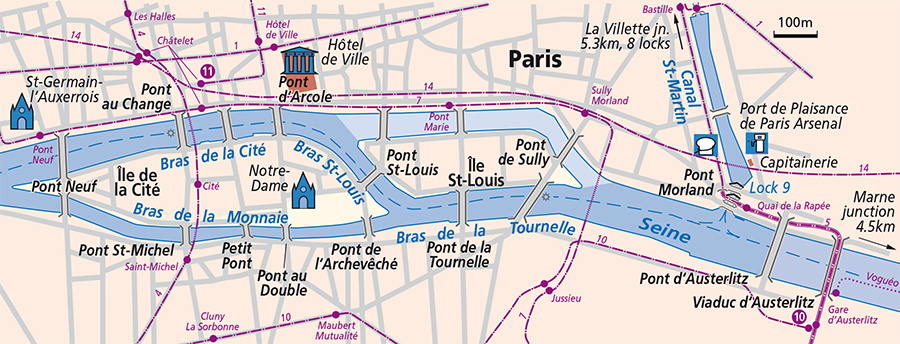 River Seine (Lower) | Detailed Navigation Guides and Maps | French ...