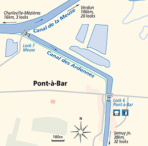 Pont-a-Bar junction plan Canal des Ardennes