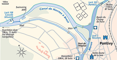 Pontivy Canal du Blavet junction plan