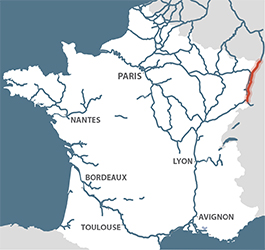 Rhine location map France