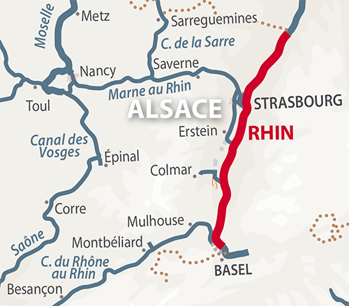 Rhin region map