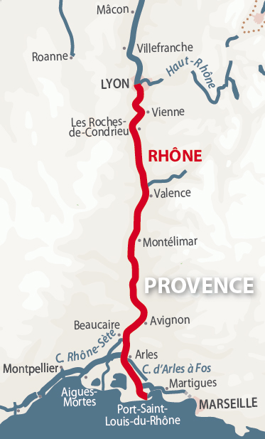 River Rhone | Detailed Navigation Guide and Maps | French Waterways