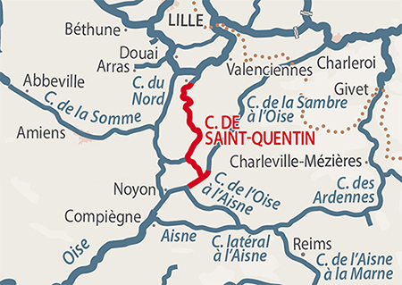 Map Of Saint Quentin France.St Quentin Canal Detailed Navigation Guides And Maps French