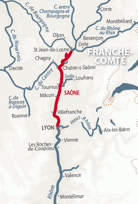 River Saone Detailed Navigation Guide And Maps French Waterways