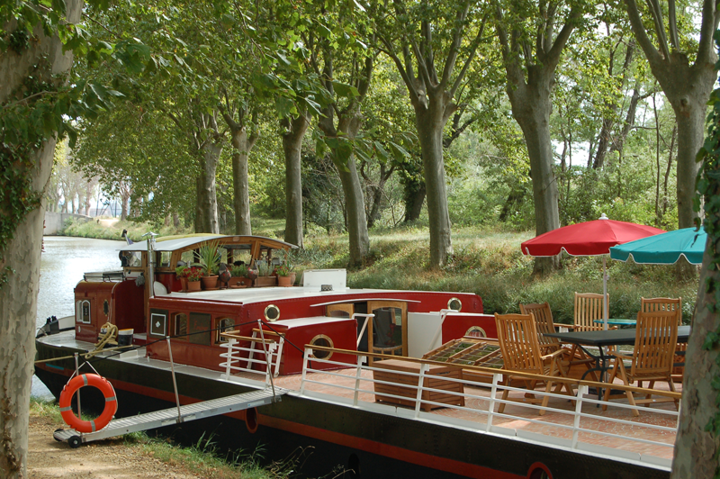 Savannah luxury hotel barge Canal du Midi