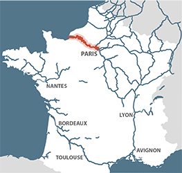 Lower Seine France map