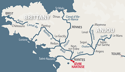 Region Map Sevre Nantaise