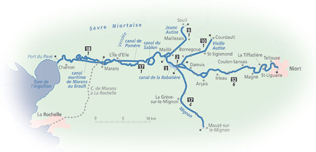 River Sevre Niortaise Detailed Navigation Guide And Maps French