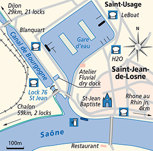 St Jean de Losne junction plan