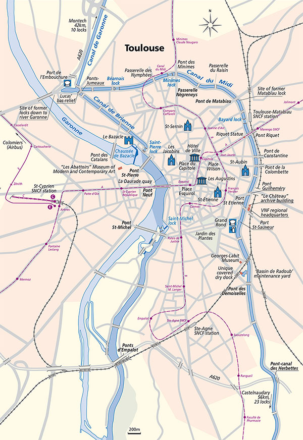 Toulouse Map Waterways