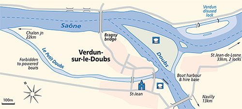 Verdun-sur-le-Doubs junction Plan Saone Doubs
