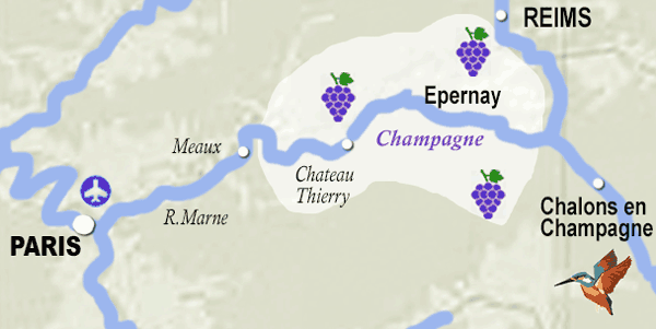Champgane wine map France