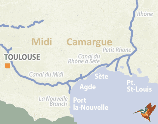 Southern france detailed navigation guides and maps french waterways rivers and canals of midi and camargue gumiabroncs Images
