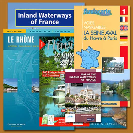 French waterways rivers canal navigation guide book