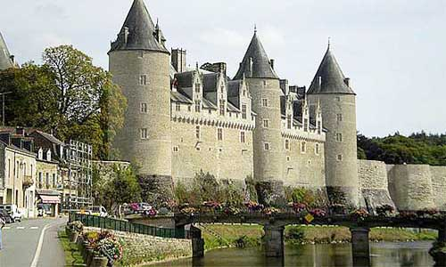 Brittany France canals boating Josselin