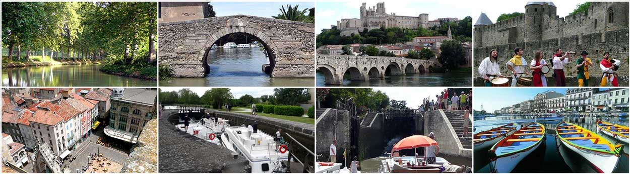 Cruise France rivers canals Canal du Midi Carcassonne