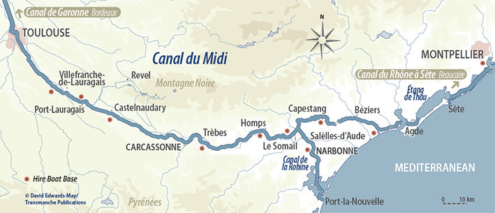 Map Of France Carcassonne.Canal Du Midi Cruises Hotel Barges And Self Drive Boats French