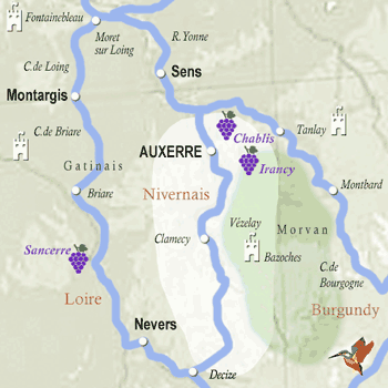 map burgundy nivernais
