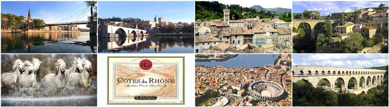 Cruise France rivers canals Provence Avignon Rhone Camargue