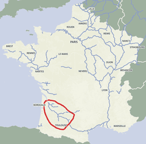 French waterways rivers canals map Aquitaine Bordeaux