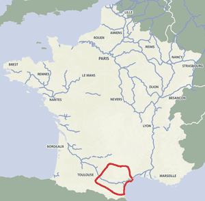 French waterways rivers canals map Canal du Midi