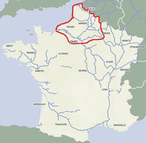 French waterways rivers canals map Paris Seine Champagne