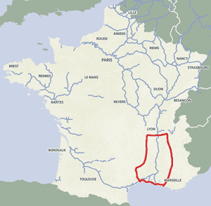 French waterways rivers canals map Provence Camargue
