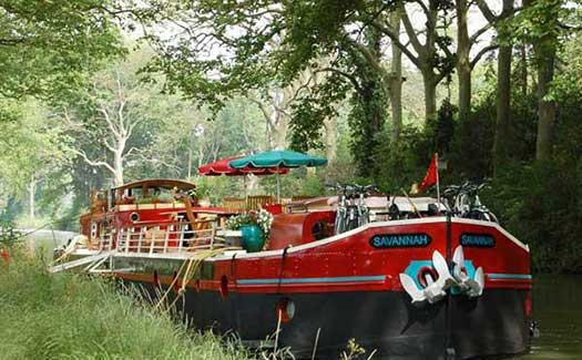 Hotel barge luxury cruise France Canal du Midi Carcassonne