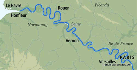 Luxury River Cruises In France Upon The Seine And Paris - World map seine river