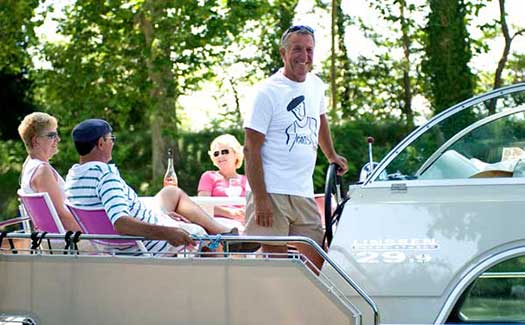 Self-drive hire boating holiday canal barge cruise France Alsace Strasbourg