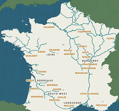wine regions and waterways of france